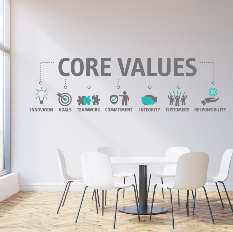 Company Values More Than Words On A Wall